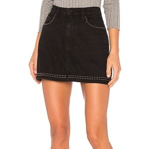Frame DENIM LE STUDDED MINI SKIRT